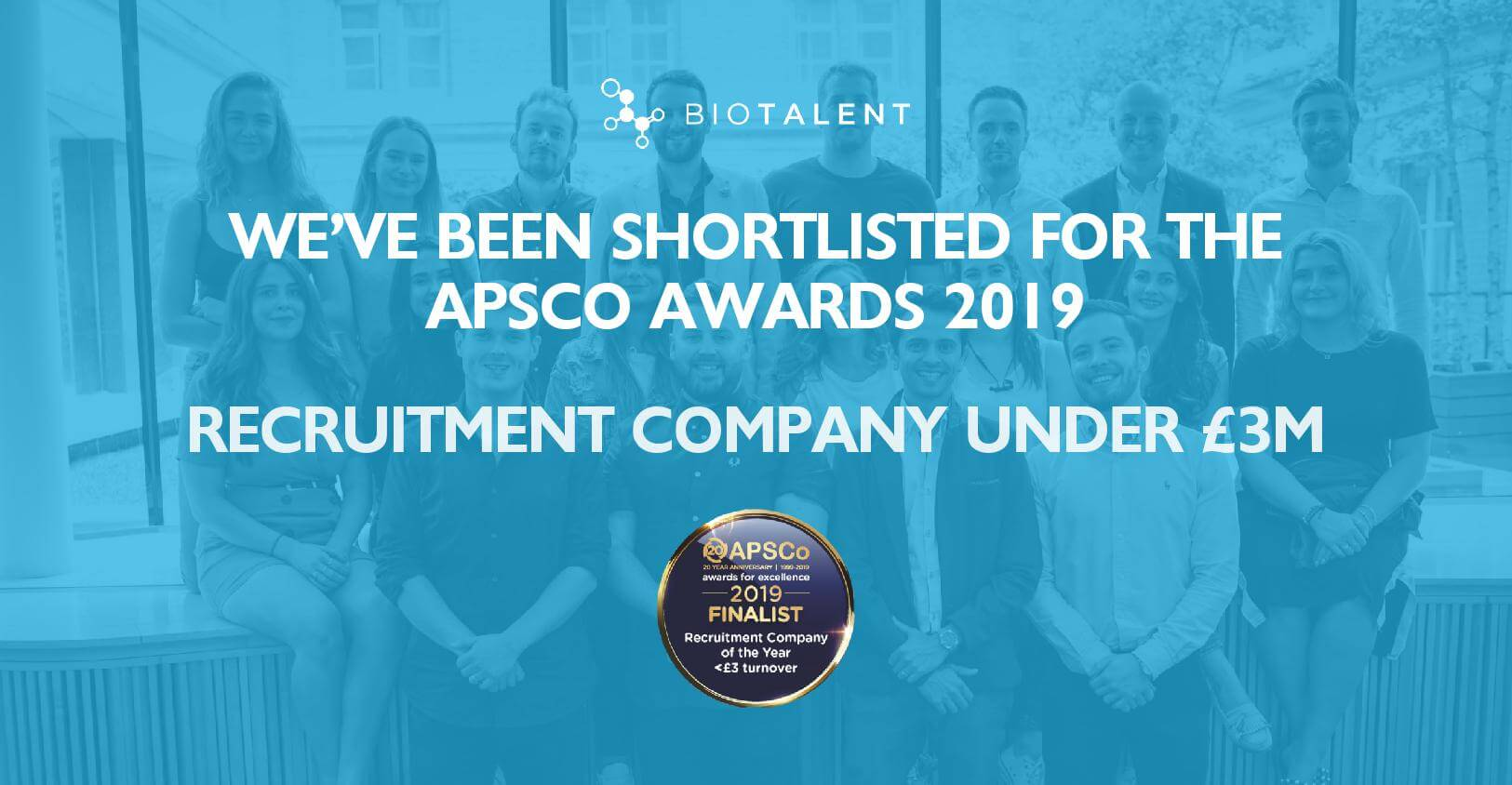 APSCo Awards 2019 - we've been shortlisted!